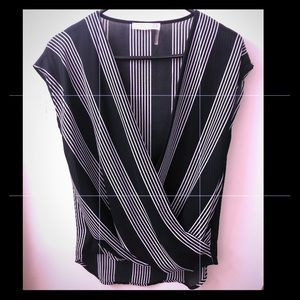 Black striped blouse